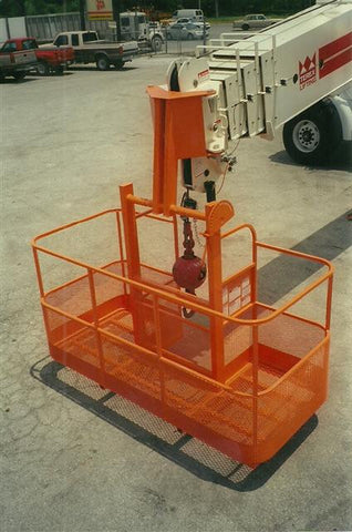 Two man basket with offset bracket