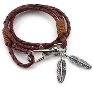 Leather Multi-layer Woven Bracelet For Men Women - thehipsterinyou