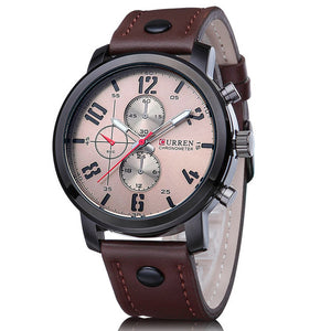 Fashion Brand Quartz Watch Men Casual Leather strap - thehipsterinyou