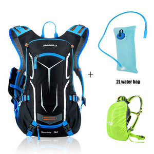 18L Waterproof Bicycle Backpack,Cycling Camping Hiking Climbing Bags With Rain Cover **Does Not Include Water Bottle** - thehipsterinyou