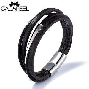 Magnetic Stainless Steel Bracelets Rope Chain Multiple Layers - thehipsterinyou