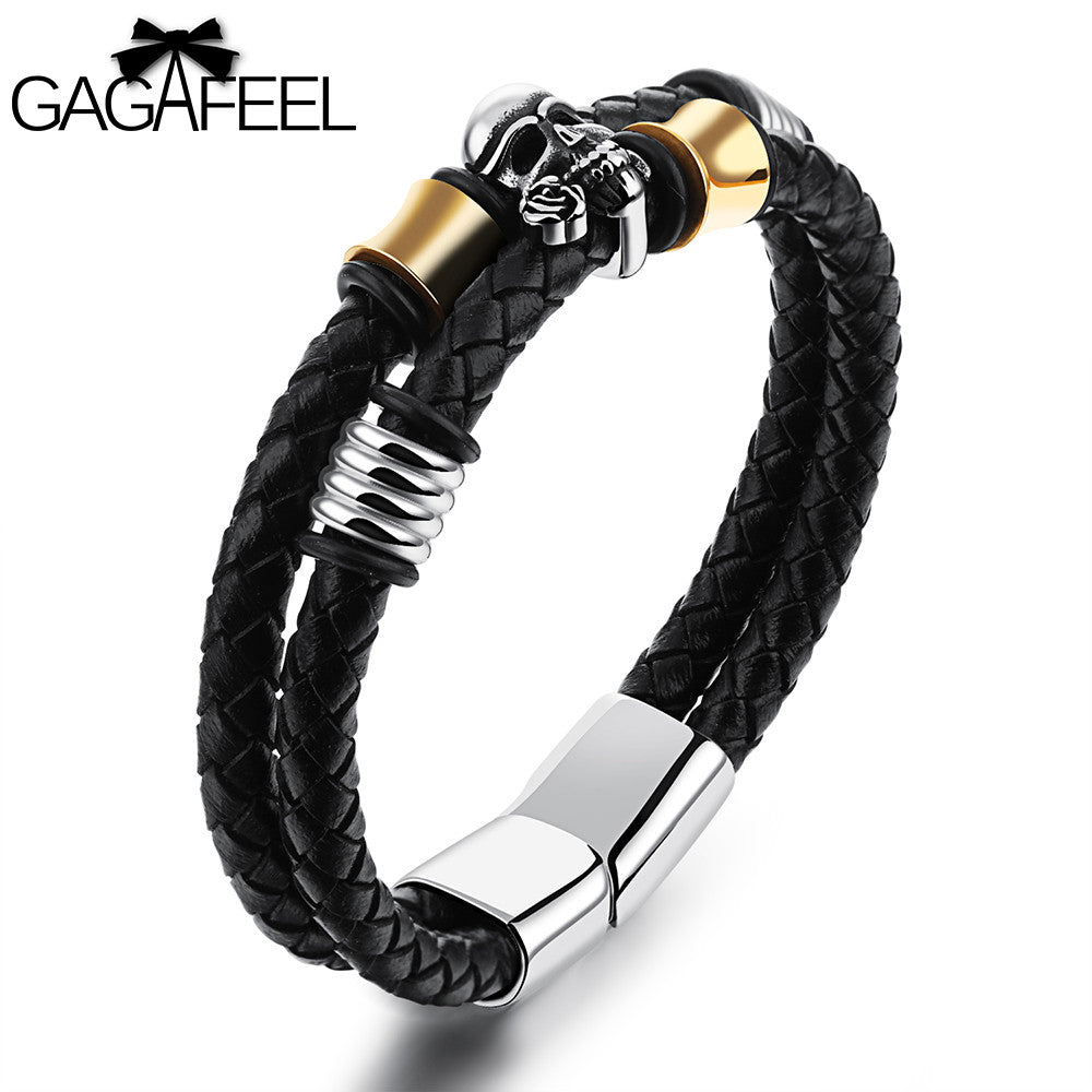 Genuine Leather Skeleton Ghost Bracelet, Awesome Looking For The Hipster In You! - thehipsterinyou