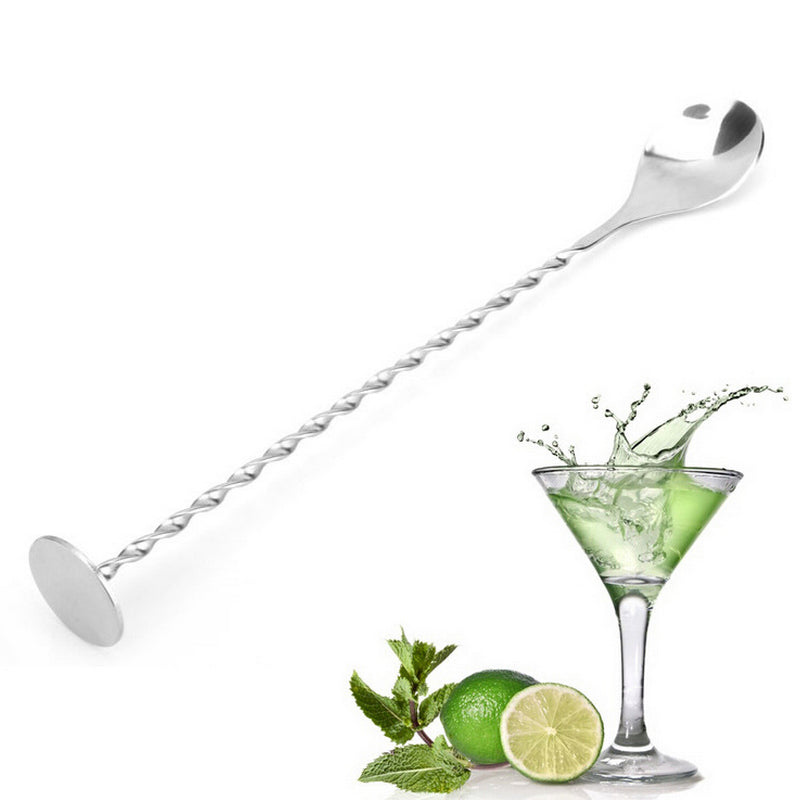 Threaded Bar Spoon Swizzle Stick For Coffee, Cocktails,  & Wine Spoons - thehipsterinyou