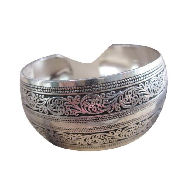 Awesome Tibetan Bangle Cuff Wide Bracelet - thehipsterinyou