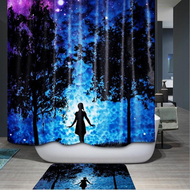 Discover Yourself In This Beautiful 3d Bamboo bathroom curtain  with hooks - thehipsterinyou