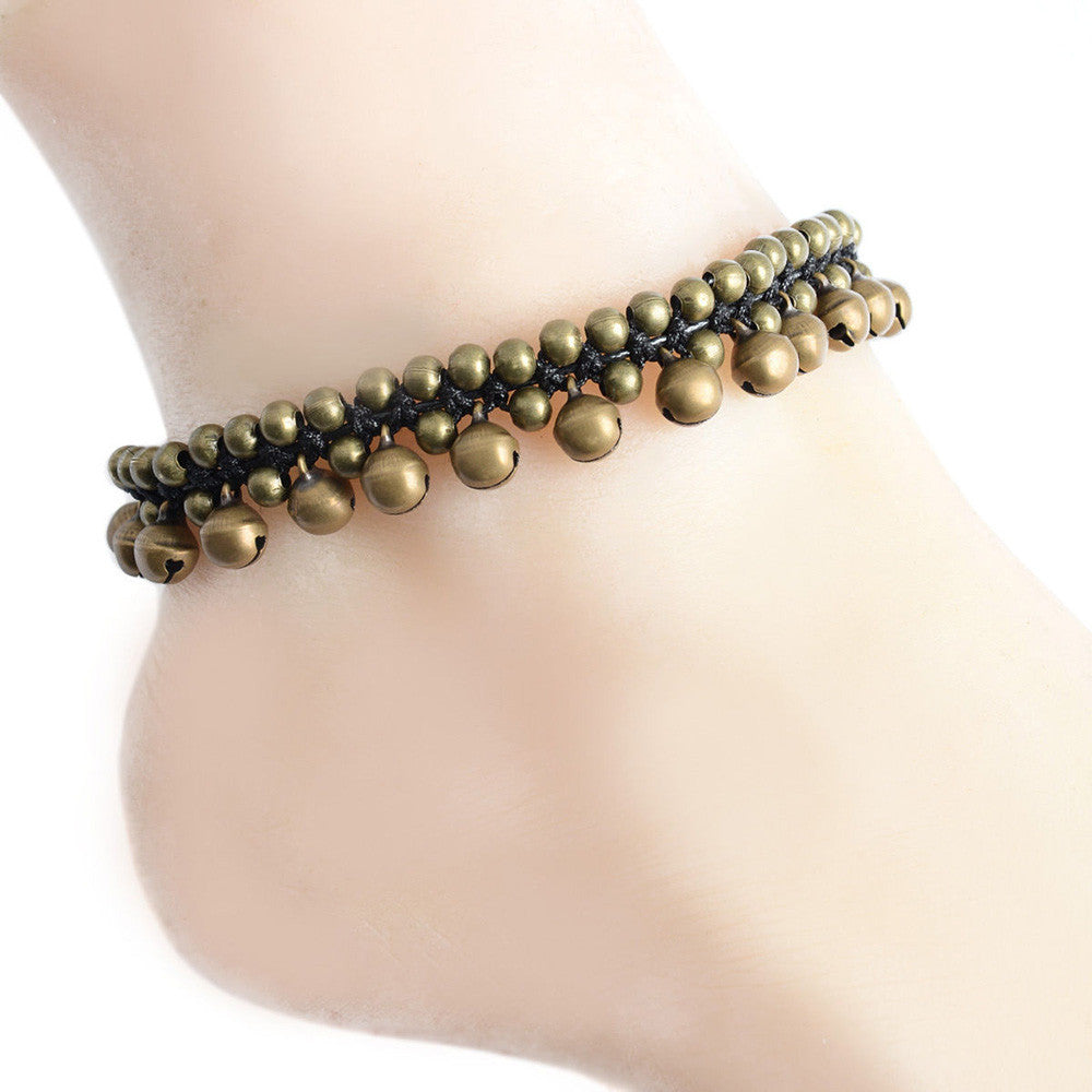 Awesome Eye Catching Ankle Bracelet Great For Tribal Boho Belly Dancing - thehipsterinyou