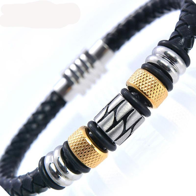 Beautiful 5 beads Stainless Steel Magnet Bracelet - thehipsterinyou