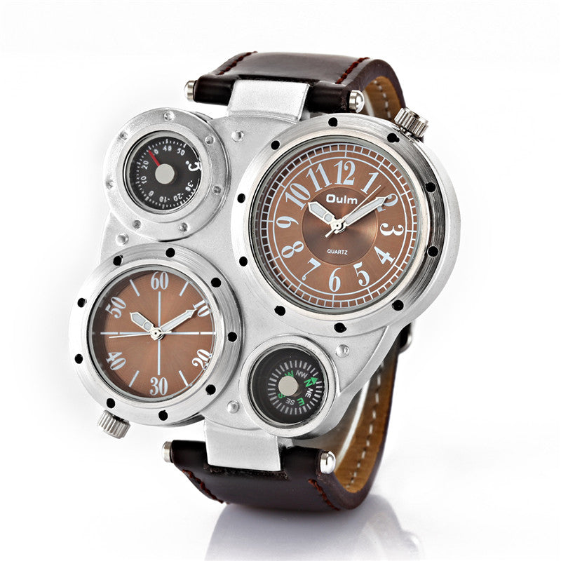 Dual Big Face Imported Watch - thehipsterinyou