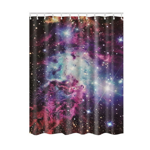 Space Is The Place With This Universe Customize Design Bath Shower Curtain - thehipsterinyou