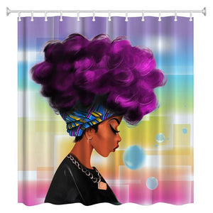 Beautiful African Woman Shower Curtain - thehipsterinyou