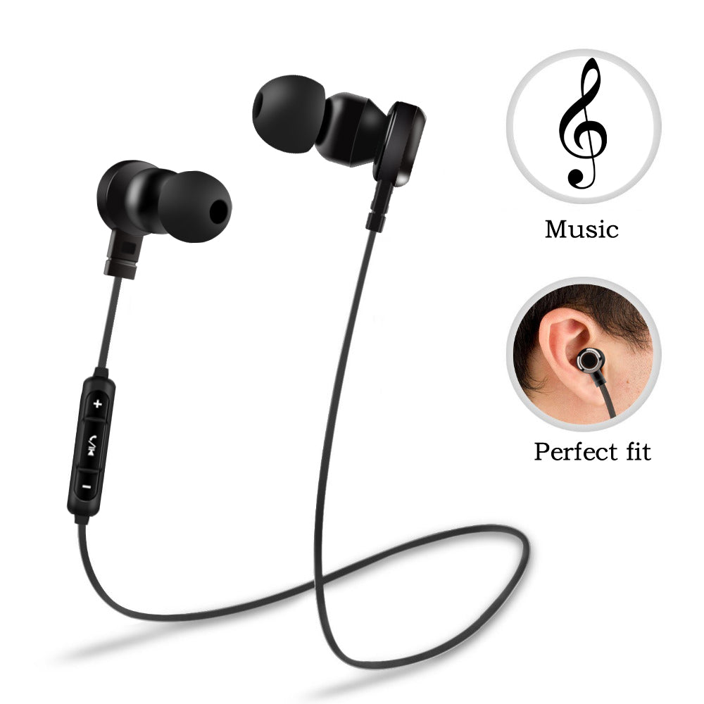 PTM B5  Bluetooth 4.2 Headset Wireless Earbuds With Microphone - thehipsterinyou