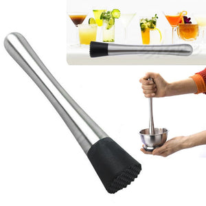 Cocktail Muddler Stainless Steel Bar Mixer - thehipsterinyou