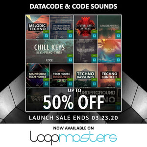 Datacode & Code Sounds now available on Loopmasters! 50% Off Sale