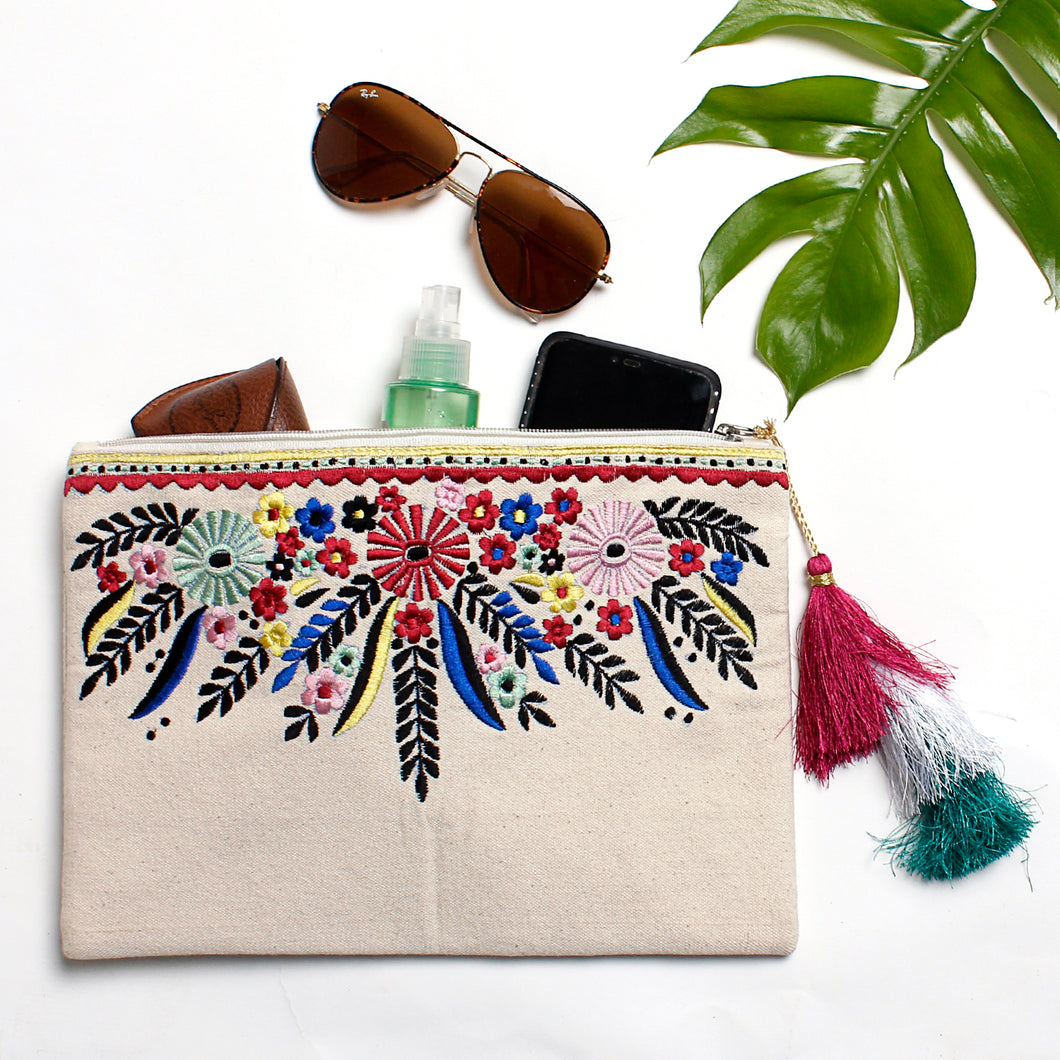 TROPICAL FLOWER POUCH