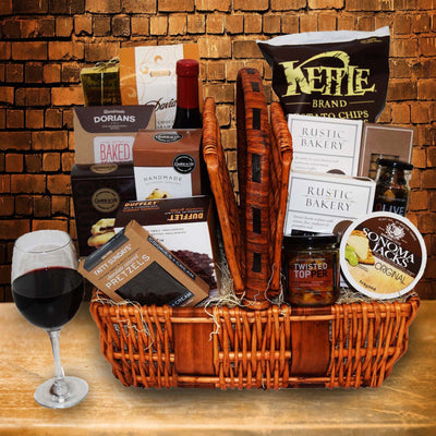 The Stratford Picnic Gift Basket, With Wine
