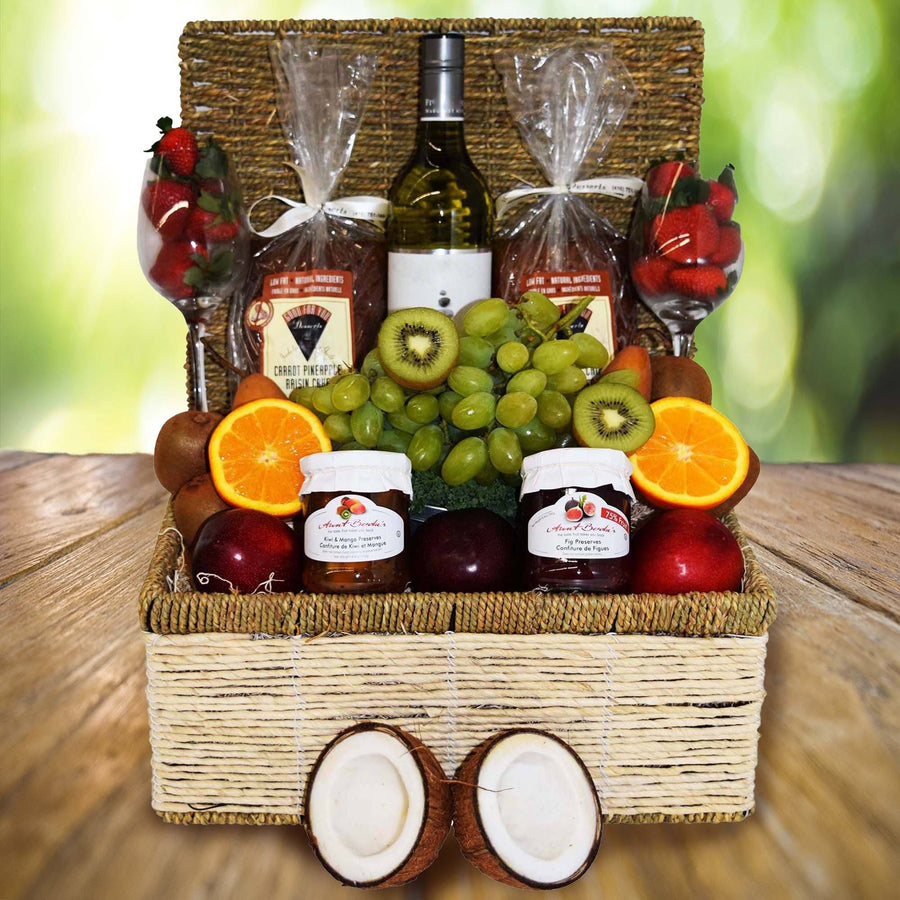 Easter gift baskets yorkvilles usa the golden coast fruit wine basket negle Image collections