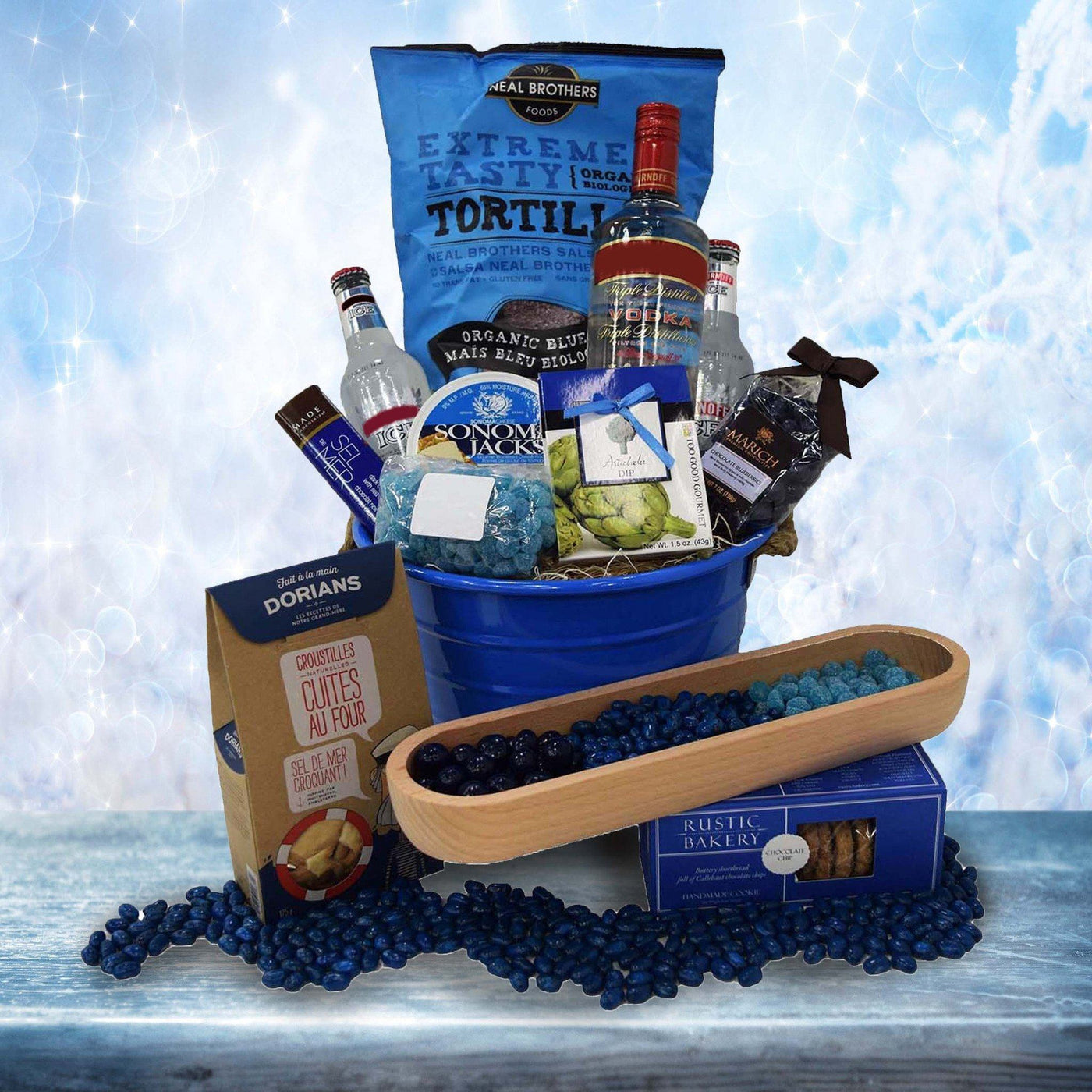 The Blue Snacking Gift Basket