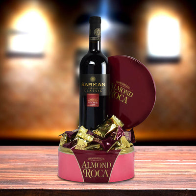 Almonds Wine and Love Gift Basket