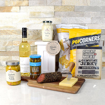 Blockbuster Party Gift Basket, Gourmet Gift Baskets, Wine Gift Basket