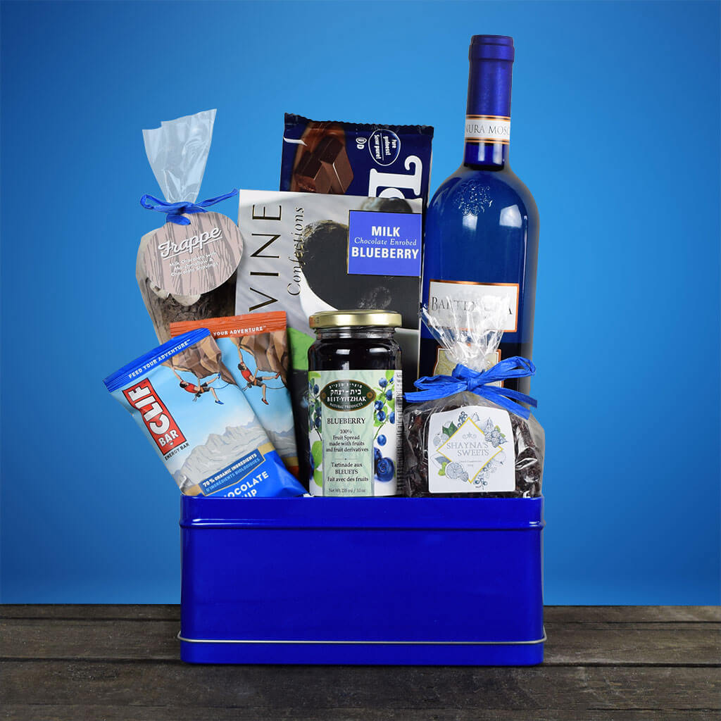 Bold In Blue Kosher Wine Gift Basket