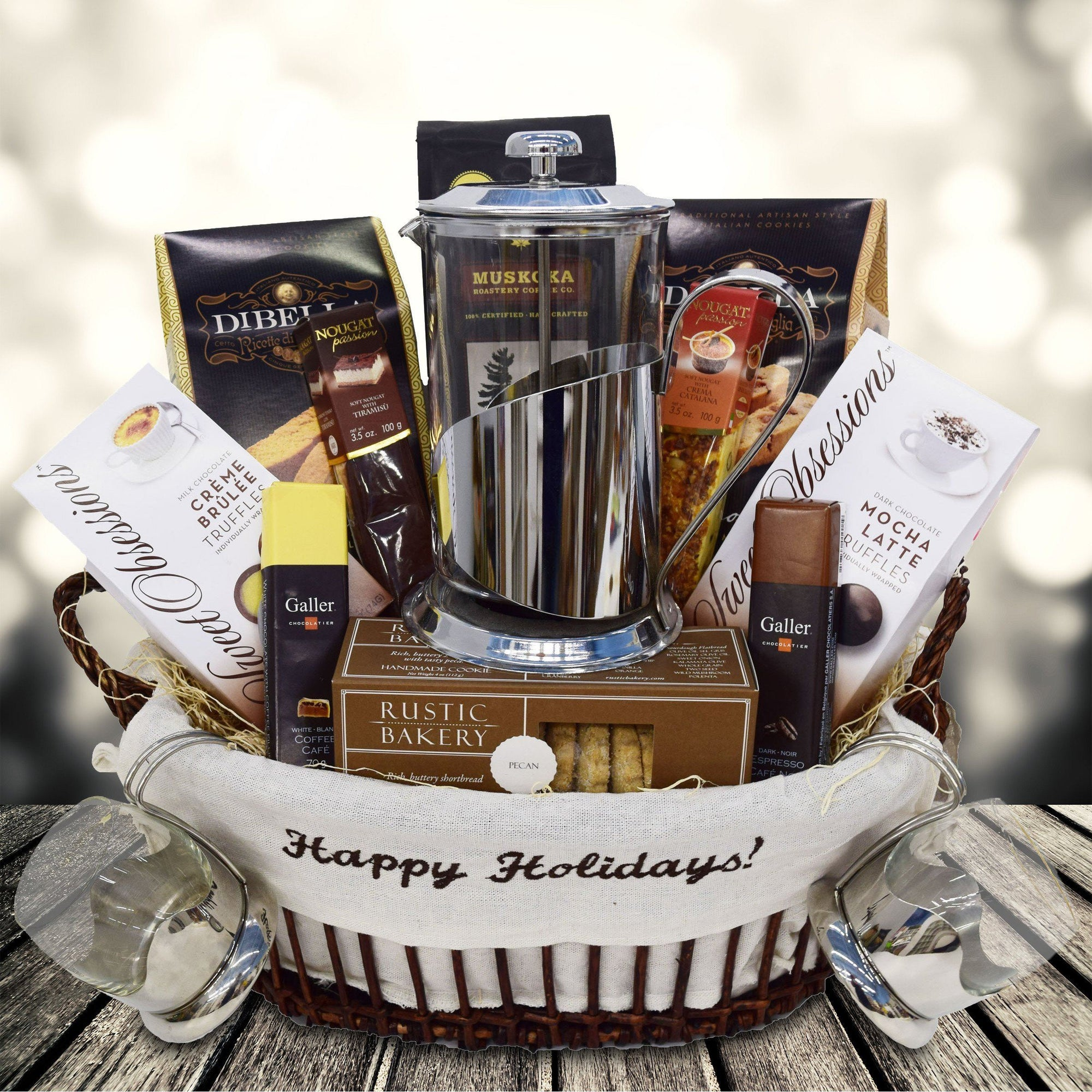 Gourmet Coffee Christmas Gift Basket - YORKVILLE\'S | USA