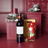 Holiday Wine & Candy Boot Gift Set, wine gift baskets, Christmas gift baskets
