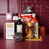 Christmas Cheer Wine & Cheese Snack Basket