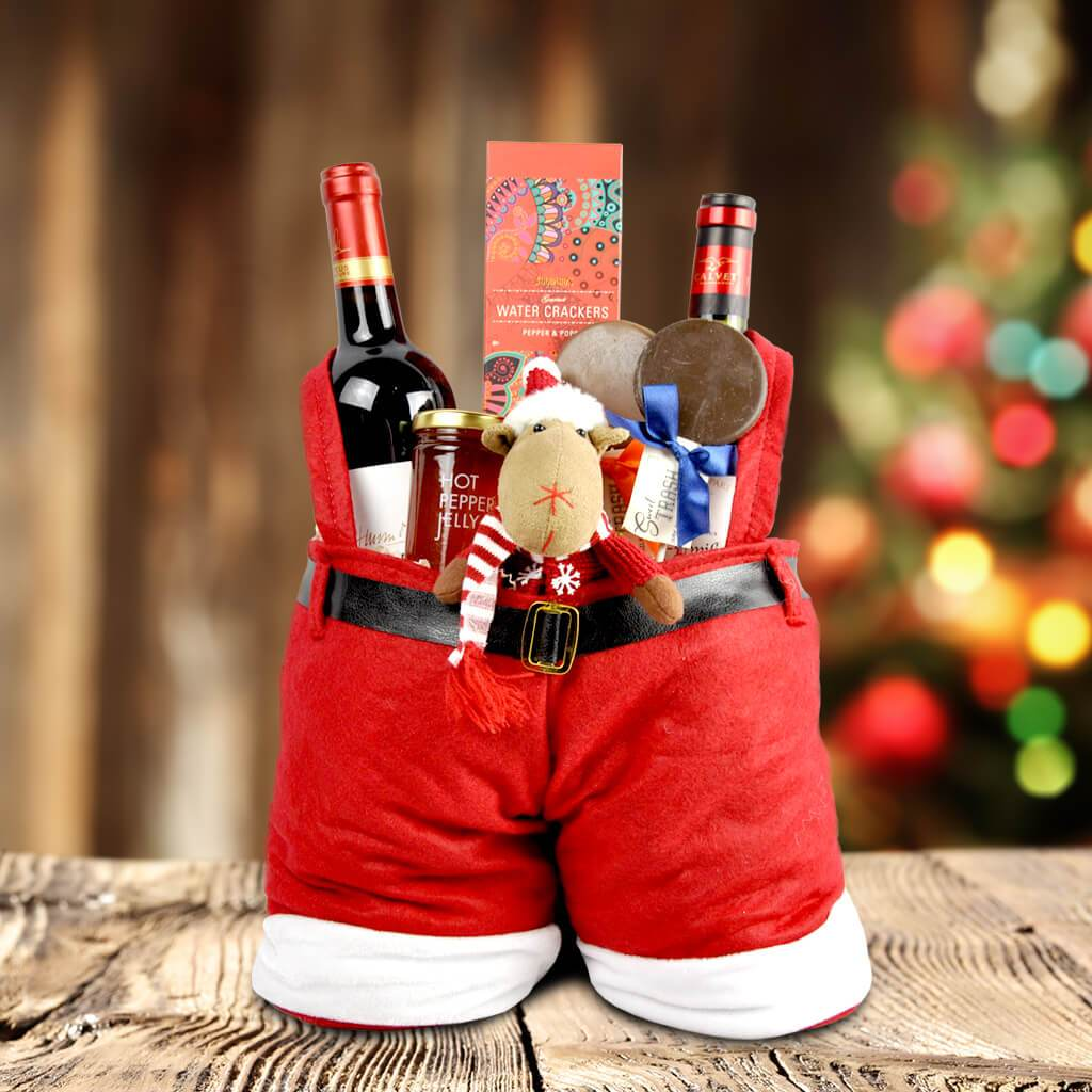 old saint nicks trousers and treats gift basket