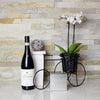 Blooming Orchids & Wine Gift Basket