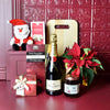 Santa's Bubbly Holiday Celebration Gift Basket, champagne gift baskets, Christmas gift baskets