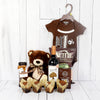 BEAR & LIQUOR GIFT SET FOR THE NEWBORN'S FAMILY