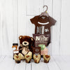 DAD'S LITTLE DUDE GIFT SET, baby boy gift basket, welcome home baby gifts, new parent gifts