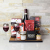 The Rustic Wine & Cheese Board, wine gift baskets, gourmet gifts, gifts