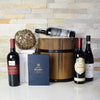 The Wine and Chocolate Lover Barrel gift basket, gift baskets, gourmet gift baskets, gift baskets