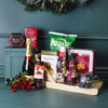 Holiday Sleigh Champagne & Treats Gift Basket