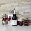 Classic Camembert Cheese &Wine Gift Basket, wine gift baskets, gourmet gift baskets, gift baskets