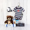 BROWN BEAR & GIFTS BABY BASKET, baby boy gift basket, welcome home baby gifts, new parent gifts