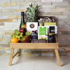 Foodie's Delight Fruit & Snack Basket with Champagne, champagne gift baskets, gourmet gift baskets