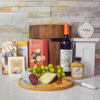 Delicious Gourmet Wine & Snack Barrel, wine gift baskets, gourmet gift baskets