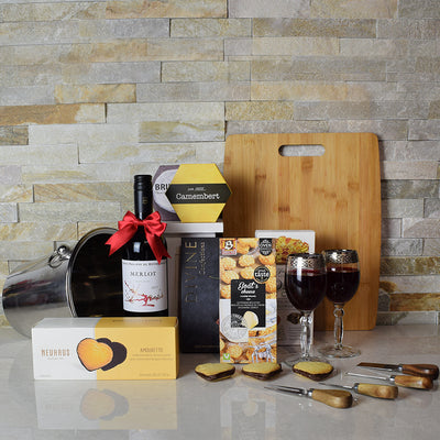 Marvelous Wine & Cheese Gift Basket, wine gift baskets, Christmas gift baskets