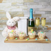 Champagne & Cupcakes Gift Basket, Easter gift baskets, gourmet gift baskets, gift baskets, holiday gift baskets