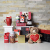 Love by Chocolate Gift Basket, gourmet gift baskets, gift baskets, Valentine's Day gift baskets, romantic gift baskets