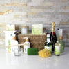 Natural Radiance Spa & Champagne Gift Set, champagne gift baskets, spa gift baskets, spa gifts, gift baskets
