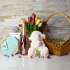 Elegant Easter Gift Basket, Easter gift baskets, champagne gift baskets, gourmet gift baskets, gift baskets, holiday gift baskets