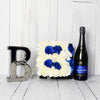 """It's A Boy!"" Champagne & Flower Box, champagne gift baskets, baby gift baskets"