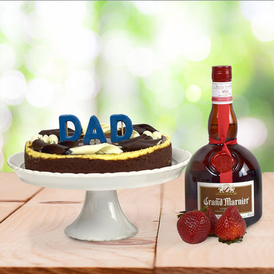 A Cheesecake for Dad Liquor Basket