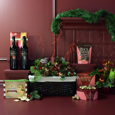 Holiday Cheer Two Wine Gift Basket