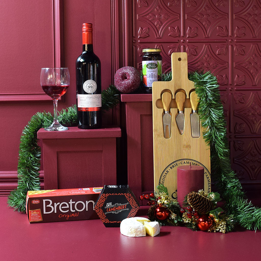 Holiday Wine Cheese Gift Basket Yorkville S Usa
