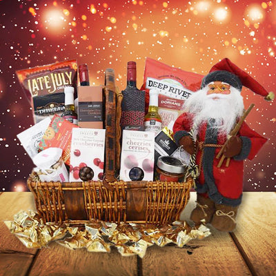 Jolly St. Nick Christmas Wine Gift Basket