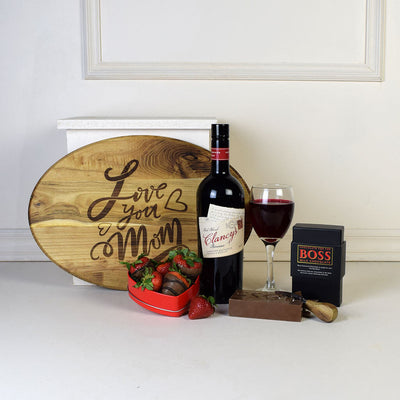 """Love You Mom"" Wine Gift Set"